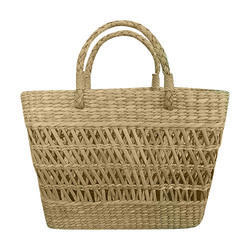 Kauna,Sea Grass Loop Handle Handmade Jally Bag, For Shopping,Daily Use
