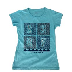 Girls Cotton Printed T Shirt