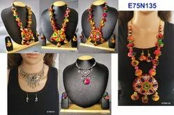 Multicolor Navratri Gamthi Necklace Set