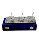 Silver Plated Apple Shaped Bowl Set