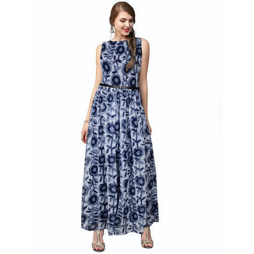 1c632fa4ef Ladies Sleeveless Floral Print Gown
