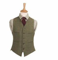 Men's Brown Corporate Plain Waistcoat, Size: S, M or L