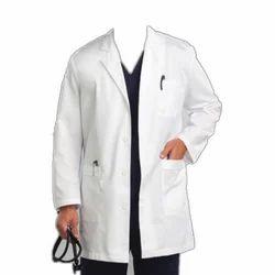 Plain White Doctors Coat, Size: Free Size