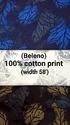 Cotton  Printed Shirting Fabric (Beleno)