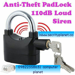 Aluminium Anti Theft Siren Pad Lock