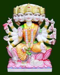 Marble Panchmukhi Gayatri Mata Murti