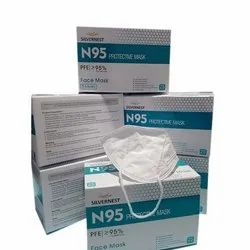 N95 Silvernest Reusable Protective Face Mask, Number of Layers: 5 Layers