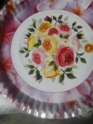Flower Printed Pleat