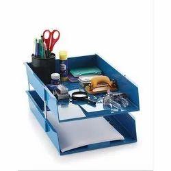 Plastic Blue Multi Purpose Stationary Racks Tray