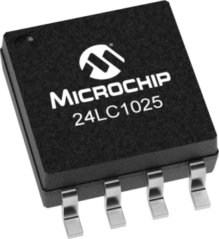 Serial I2C 24LC1025T-I//SN 8 Pins 2-Wire EEPROM SOIC 400 kHz 1 Mbit 128K x 8bit 24LC1025T-I//SN Pack of 10