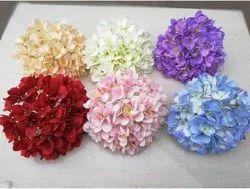 Polyester Wedding Artificial Hydrangea Flowers, For Decoartion