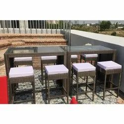 Hutaib Furniture Wooden Cafeteria Chairs Table Set