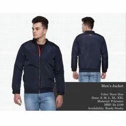 Polyester Navy Blue Full Sleeves Men Designer Jackets