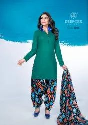 Stitched Multicolor Readymade Patiyala Cotton Suits