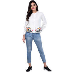 Ladies White Casual Top