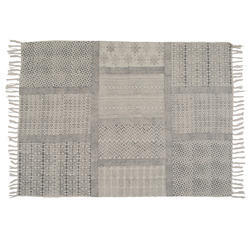 Geometrical Pattern Cotton Indian Dhurrie Rugs