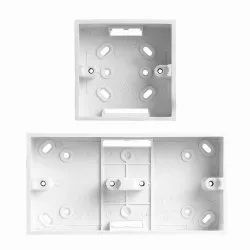 Plastic White Surface Mounting PVC Switch & Socket Boxes