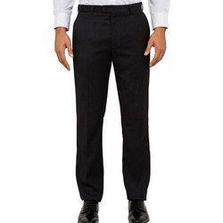 Cotton Black Men's Corporate Trouser