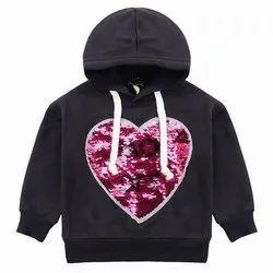 Casual Wear Hooded Girls Kids Winter Hoodies
