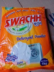 Lemon White Swachha Detergent Powder, For Laundry, Packaging Size: 25 Packet Of 1 Kg