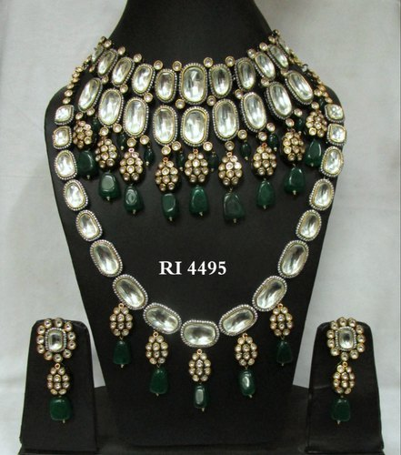 7a2e39f84f RI Bridal Uncut Polki Necklace Set, Rs 27000 /set, Radiant Impex ...