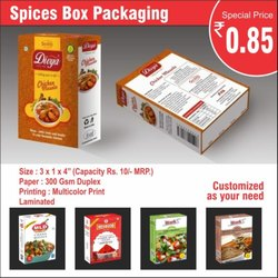 Multicolor Spices Box Packaging