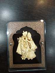 Radhe Krishna Gold Leaf Frame 24 kt.
