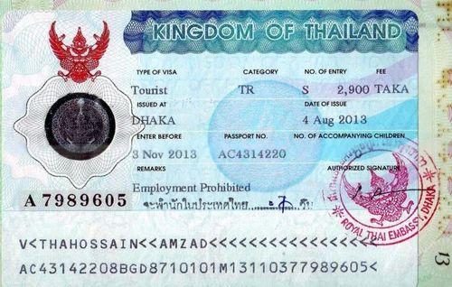 Online Thailand Visa Application Form Desh on