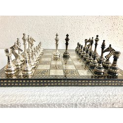 12 Brass Modern Classic Carving Chess Set
