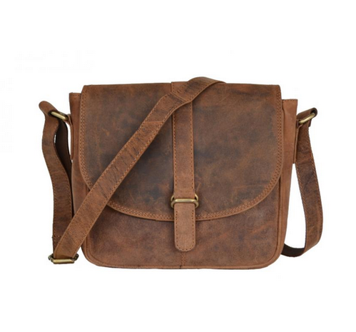 ee031c9dbf20 Crazy Horse Leather Men s Brown Messenger Laptop Bag - Shaista ...