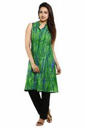 Medium And Large Green Rayon Kurti