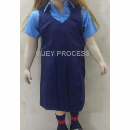 77f3b4df2f0 Cotton Plain Girls Summer School Uniform, Rs 650 /set, Vijey Process ...