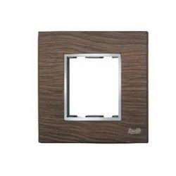 2 Module Black Wood Modular Switch Plate