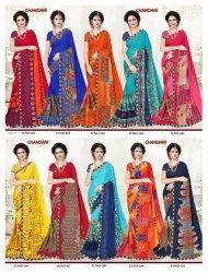 Chandani Floral Printed Sarees