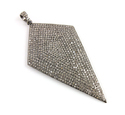 Jewellers Paradise Kite Shape Pave Diamond Pendant, Size: 41x74mm