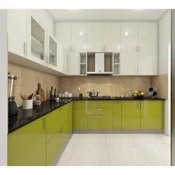 Laminate Finish L Shape Modular Kitchen