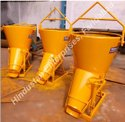 Manual Screw Jack Operated Tower Crane Concrete Bucket