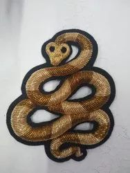 GOLDEN ZARDOZI EMBROIDERY PATCHES WORK