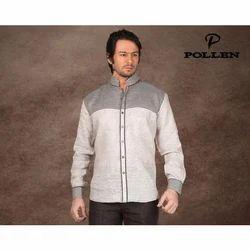 Combination Party Wear Mens Linen Designer Shirt