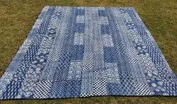 Handmade Kantha Blanket Ralli Bedspread,100% Cotton Kantha Throw,Black Throw Bed Cover
