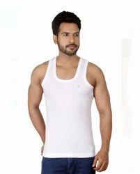 White Pure Cotton Rupa vest