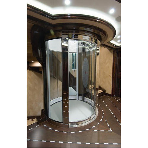 Stainless Steel And Mild Steel Circular Glass Lift G 3 Maximum