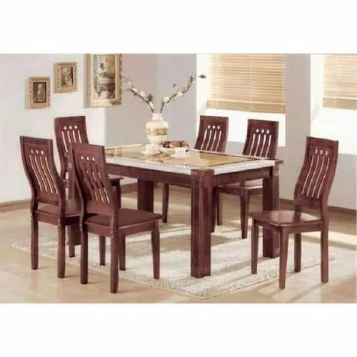 Wooden Standard Height Vintage Dining Table For Home 4 Chairs Rs 12000 Set Id 21454599955