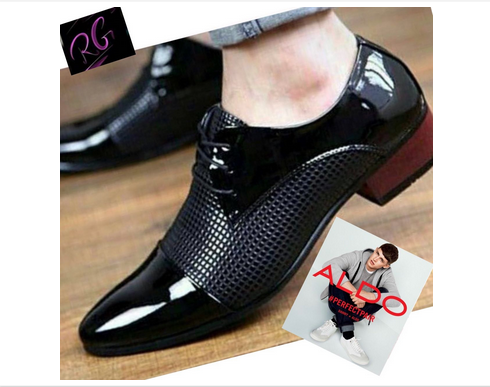 Black Mens Glossy Formals Shoes, Size