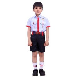 Summer Cotton Boys School Uniform, S, M & L, Packaging Type: Packet