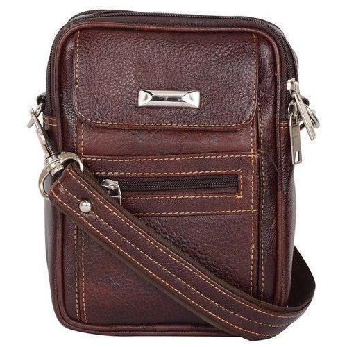 Brown Bluwhale Fancy Leather Sling Bag e0017dce7e9fb