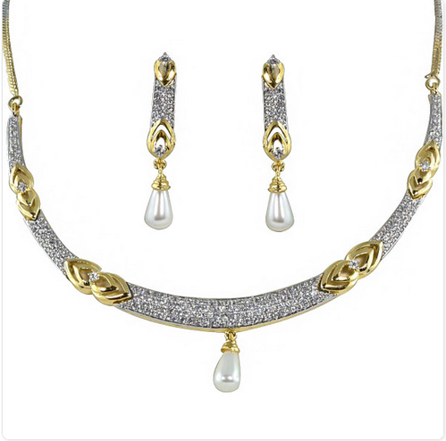 2aa109601ae Hasli Style Zircon Studded Necklace - Paradise Jewels