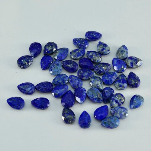 Natural Lapis Lazuli Cabochon Calibrated Pear 4x6 5x8 mm loose gemstone jewelry making Top Quality Gemstone