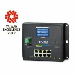 WGS-5225-8T2SV Managed Switch with LCD Touch Screen