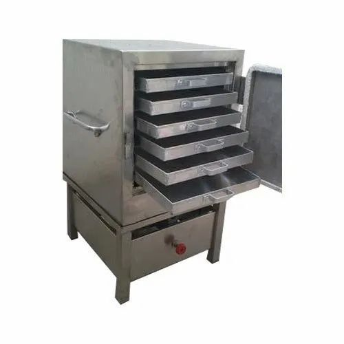 Semi-Automatic Stainless Steel Khaman Dhokla Steamer Machine, Number Of Knob: 1 Knob, Electric